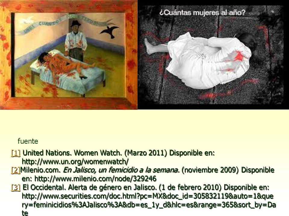fuente [1] United Nations. Women Watch. (Marzo 2011) Disponible en: http://www.un.org/womenwatch/